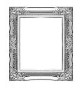 no customer profile, empty picture frame